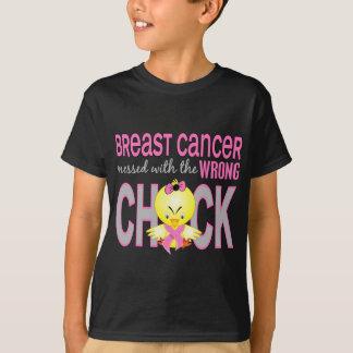 Brustkrebs verwirrt mit falschem Küken T-Shirt