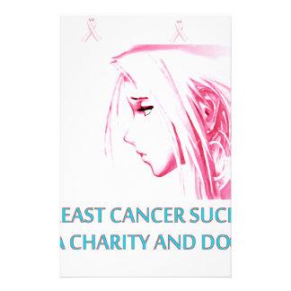 Brustkrebsist zum Kotzen trauriges Anime-Gesicht Briefpapier