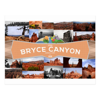 Bryce Schlucht-Nationalpark-Postkarte Postkarte