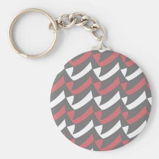 Bubblegum und graue Karos Schlüsselanhänger