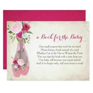 Buch für das Baby, rosa Ballett-Einsatz Karte