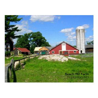 Buchen-Hügel-Bauernhof Postkarte