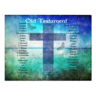 Bücher des Bibel-aufgeführten ALTEN Testaments Postkarte
