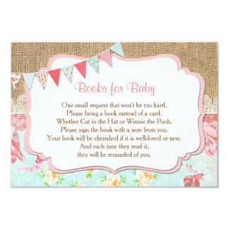 Bücher für Baby, holen einen Bucheinsatz, Shabby Karte