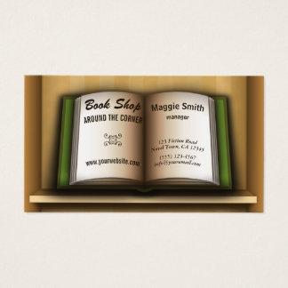 Buchladen-Buch-Regal-Buchhandlungs-Visitenkarten Visitenkarte