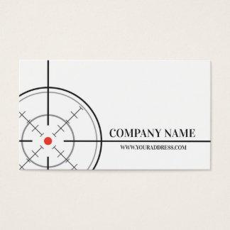 Büchsenmacher-Geschäfts-Ziel-Weiß-Visitenkarte Visitenkarte