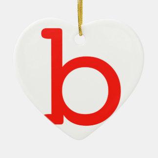Buchstabe b keramik Herz-Ornament