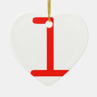 Buchstabe L Keramik Herz-Ornament
