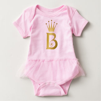 Buchstabe-Monogramm-Baby-Rosa-Ballettröckchen der Baby Strampler