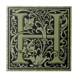 Buchstabe-Monogramm des Buchstabe-H erstes Kleine Quadratische Fliese