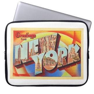 Buchstabe-Reise-Postkarte New York City #2 NY Laptop Sleeve