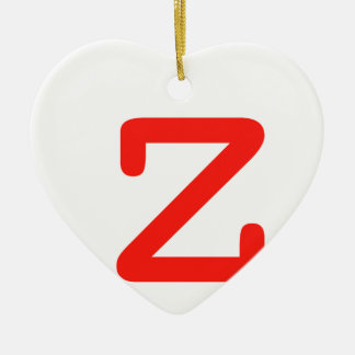 Buchstabe Z Keramik Herz-Ornament