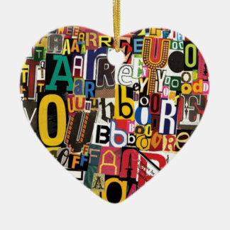 Buchstaben Keramik Herz-Ornament