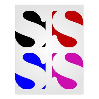 Buchstaben S Postkarte
