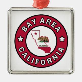 Bucht-Bereich Kalifornien Silbernes Ornament