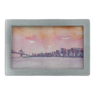 Bucht-Bereichs-Skyline San Francisco mit Rechteckige Gürtelschnallen