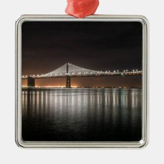 Bucht-Brücke Silbernes Ornament
