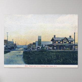 Bucht-Kopf, New-Jersey, Hauptst., Vintag Poster