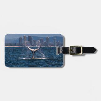Buckel-Wal-Schwanz-Plattfischsurfers-Paradies Gepäckanhänger