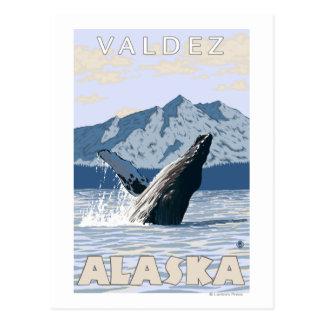 Buckel-Wal - Valdez, Alaska Postkarte