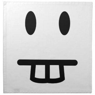 Bucktooth-Gesicht Serviette