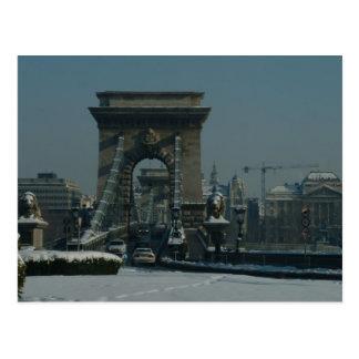 Budapest - Kettenbrücke Postkarte