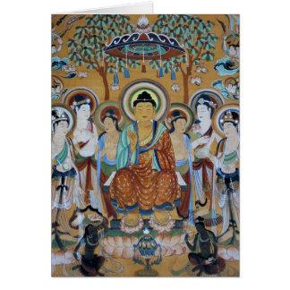 Buddha umgab durch Bodhisattvas Karte