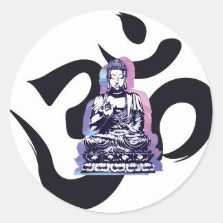 Buddha-Welle 3 Runder Aufkleber