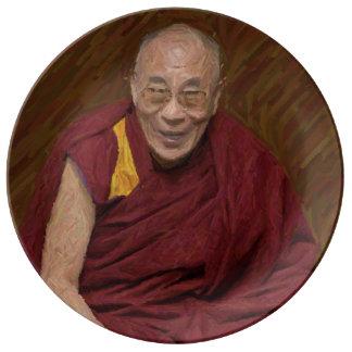 Buddhistische Buddhismus-Meditation Yog Dalai Porzellanteller