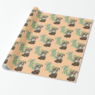Budgerigar- und Koalabär Geschenkpapier