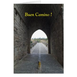 Bue Camino/leere Anmerkungs-Karte Karte