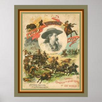 Buffalo Bills wildes Westplakat 16 x 20 Poster