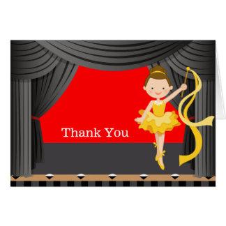 Bühne-Tänzer danken Ihnen Karte