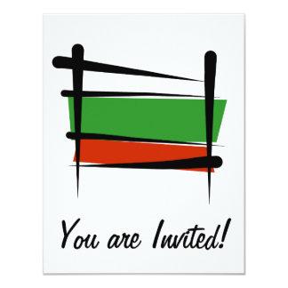 Bulgarien-Bürsten-Flagge 10,8 X 14 Cm Einladungskarte