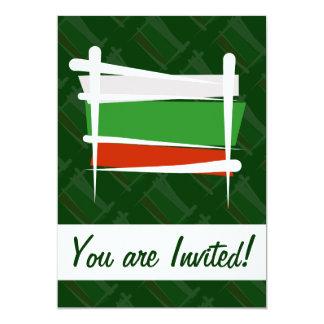 Bulgarien-Bürsten-Flagge 12,7 X 17,8 Cm Einladungskarte