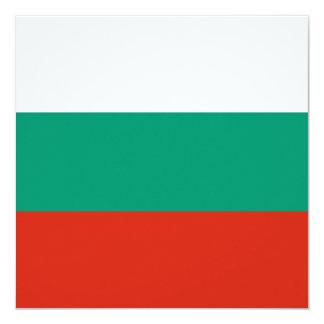 Bulgarien-Flagge Quadratische 13,3 Cm Einladungskarte