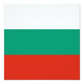 Bulgarien-Flaggen-Einladung Quadratische 13,3 Cm Einladungskarte