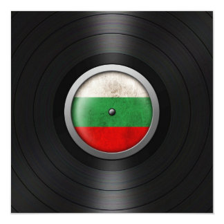 Bulgarische Flaggen-VinylRekordalbum-Grafik Quadratische 13,3 Cm Einladungskarte