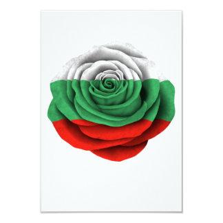 Bulgarische Rosen-Flagge auf Schwarzem 8,9 X 12,7 Cm Einladungskarte