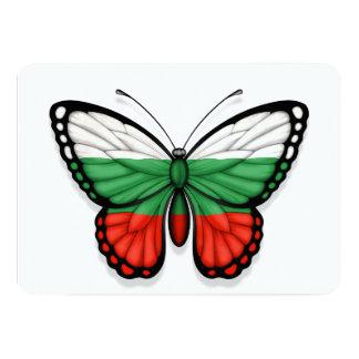 Bulgarische Schmetterlings-Flagge 12,7 X 17,8 Cm Einladungskarte