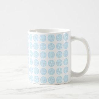 Bullaugen-blaue PastellTasse Tasse