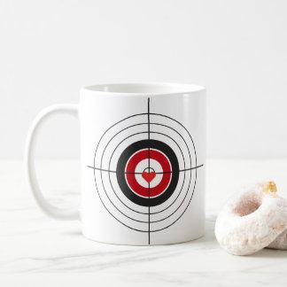 Bullaugen-Ziel die Herz-Kaffee-Tasse Kaffeetasse