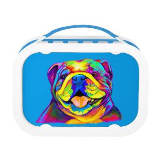 Bulldogge in den Farben Brotdose