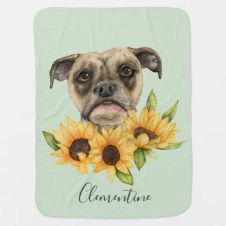 Bulldoggen-Mischung mit Sonnenblumen | addieren Puckdecke