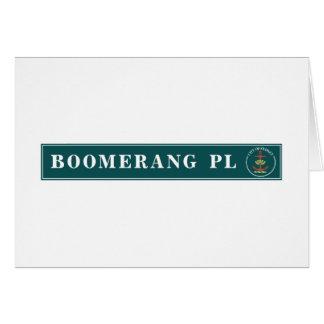 Bumerang-Platz, Sidney, australischer Grußkarte