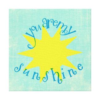 Bunt sind Sie meine Sonnenschein-Kreis-Typografie Leinwanddruck