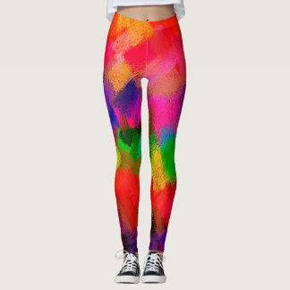 Bunte abstrakte Malerei Leggings