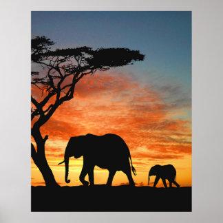 Bunte afrikanische poster