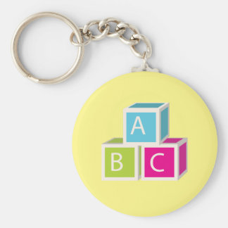 Bunte Alphabetblöcke Schlüsselanhänger