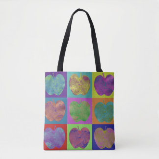 Bunte Apfel-Pop-Kunst-Taschen-Tasche